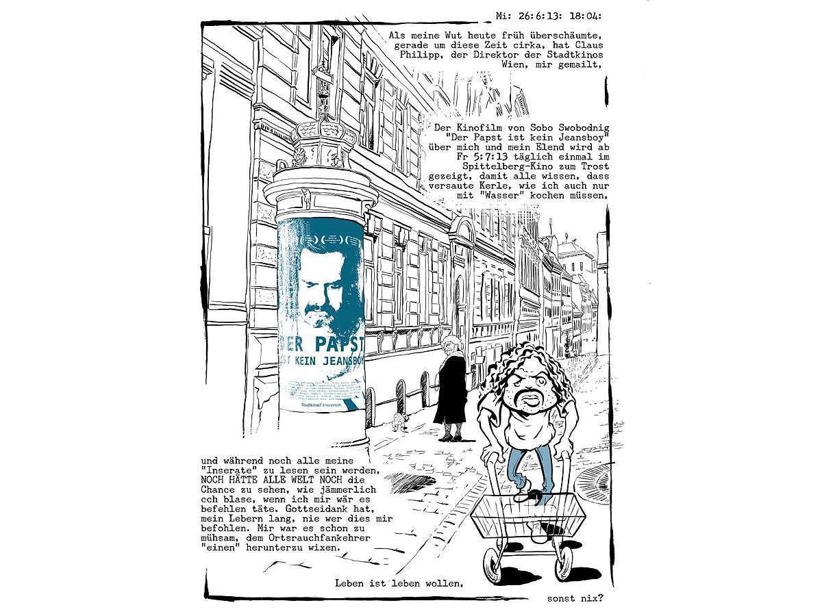 Comic mit Walter Fröhlich