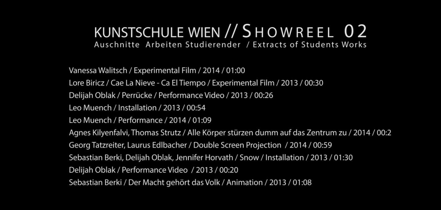 Showreel 02 for Grafik praktikum wien