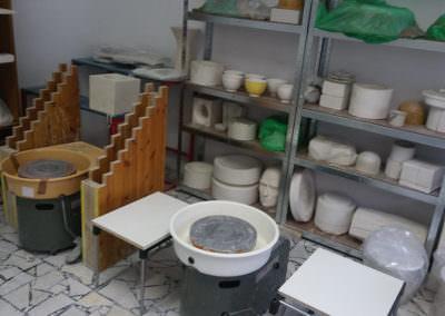 Keramikwerkstätte innen