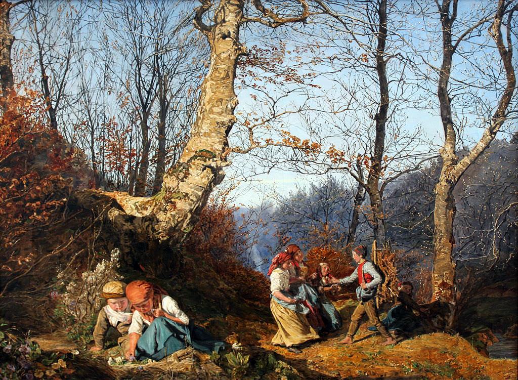 Ferdinand Waldmüller, 1864, Vorfrühling im Wiener Wald
